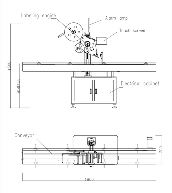Automātiska plakanā augšējā pašlīmējošā uzlīmēšanas mašīna