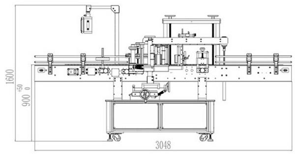 Automātiska priekšējās un aizmugurējās divpusējās marķēšanas mašīnas detaļas