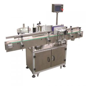 Cosmetic Bottle Top Side Ladhesive Labeling Machine